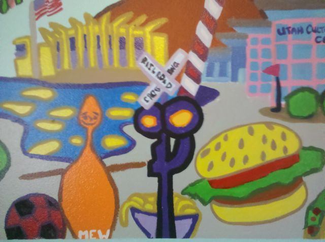 Academy Park Housing – Painted Mural
