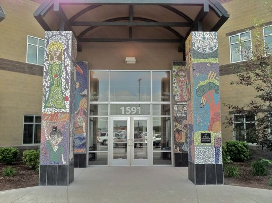 North Davis Preparatory Academy – Pillar Mosaics