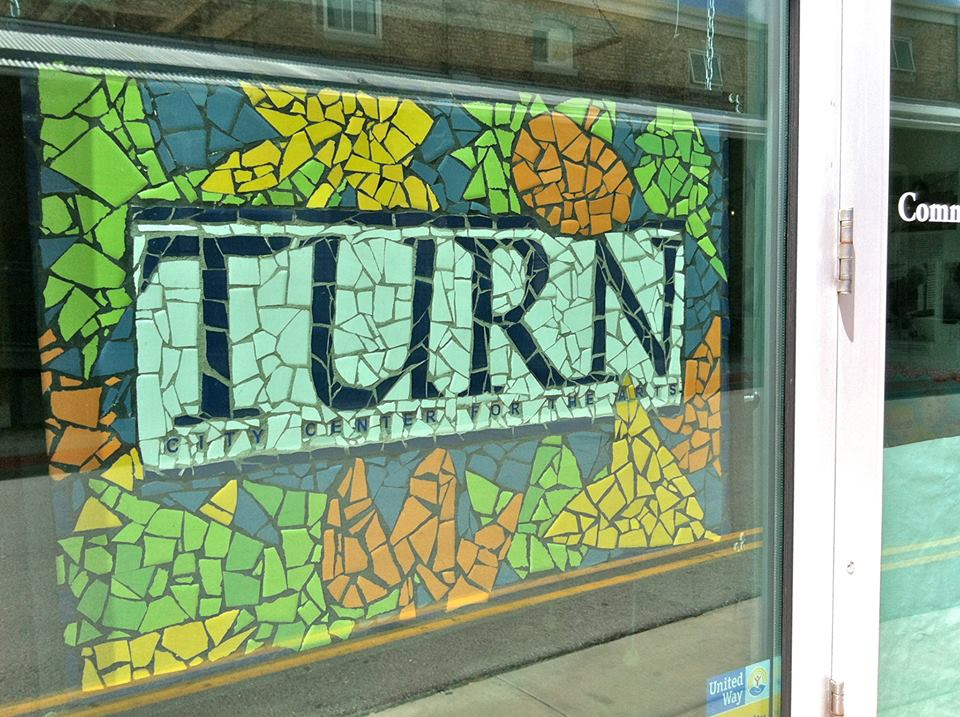 TURN City Center for the Arts – Mosaic sign