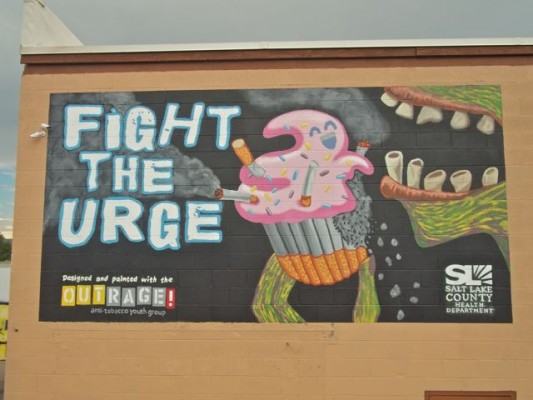 OUTRAGE! Anti-Tobacco Youth Group – Billboard Mural